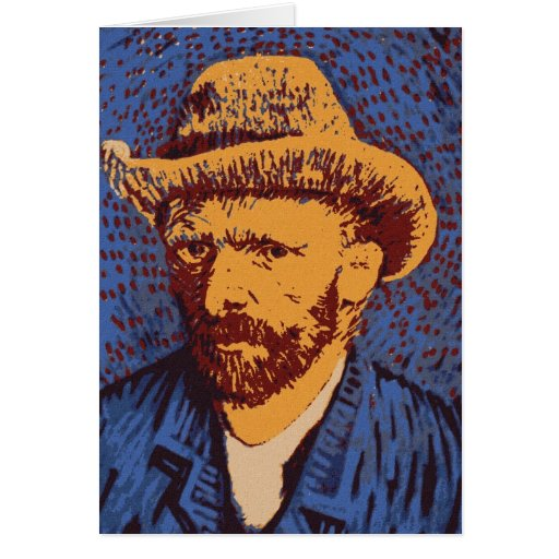 Retrato Vincent van Gogh Tarjeta Pequeña