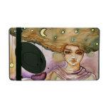 Retrato y mujer abstractos del bonito iPad cárcasas