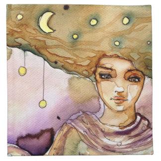 Retrato y mujer abstractos del bonito servilletas