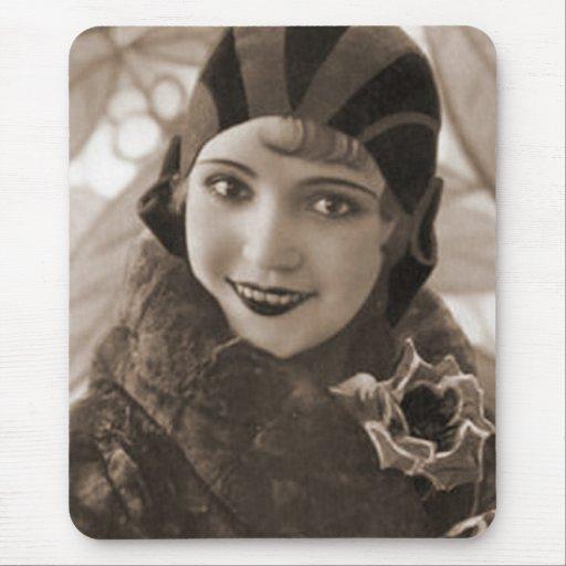 Retratos antiguos de las fotografías del vintage d mousepads