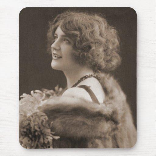 Retratos antiguos de las fotografías del vintage d alfombrillas de ratón
