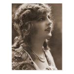 Retratos antiguos de las fotografías del vintage postal