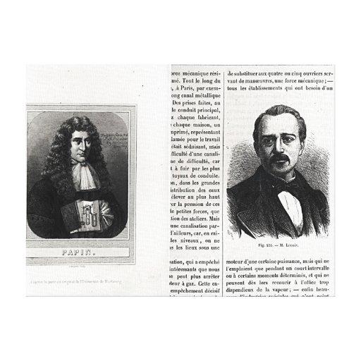 Retratos de Denis Papin y de Etienne Lenoir Impresion De Lienzo