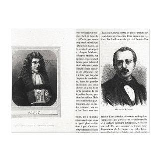 Retratos de Denis Papin y de Etienne Lenoir Lienzo Envuelto Para Galerias