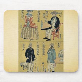 Retratos de extranjeros por Ochiai, Yoshiiku Mouse Pad