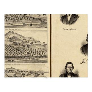 Retratos de Gen l MG Vallejo F Bedwell malla del Postal