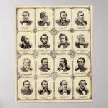 Retratos de Gustavus Koerner Póster
