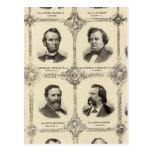 Retratos de Gustavus Koerner Tarjeta Postal