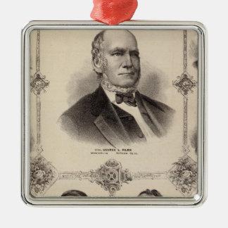 Retratos de Illinois trece Ornaments Para Arbol De Navidad