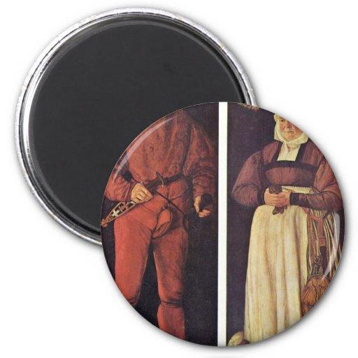 Retratos de Jacob Schwytzer y su esposa Elsbeth Imán De Frigorifico