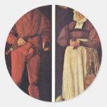 Retratos de Jacob Schwytzer y su esposa Elsbeth Pegatina Redonda