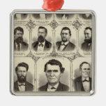 Retratos de Juan C Pasillo y profesor JW Bradshaw Adorno De Navidad
