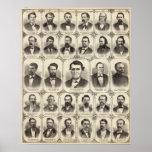 Retratos de Juan C Pasillo y profesor JW Bradshaw Impresiones