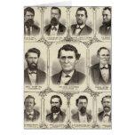 Retratos de Juan C Pasillo y profesor JW Bradshaw Felicitación