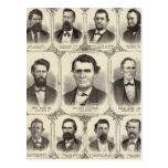 Retratos de Juan C Pasillo y profesor JW Bradshaw Tarjeta Postal