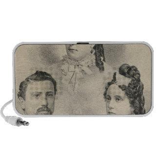 Retratos de la familia de Curtiss y de Todd Notebook Altavoz
