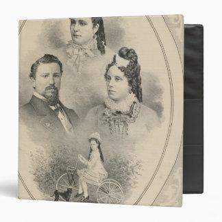 """Retratos de la familia de Curtiss y de Todd Carpeta 1 1/2"""""""
