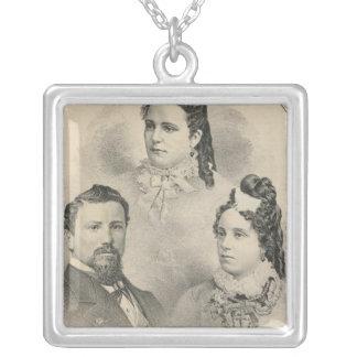 Retratos de la familia de Curtiss y de Todd Colgante Cuadrado