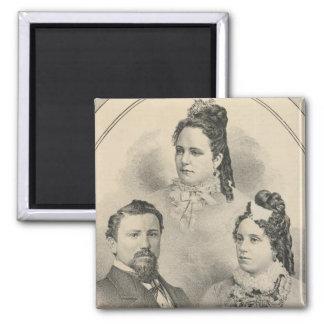 Retratos de la familia de Curtiss y de Todd Iman Para Frigorífico