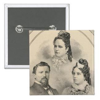 Retratos de la familia de Curtiss y de Todd Pin Cuadrado