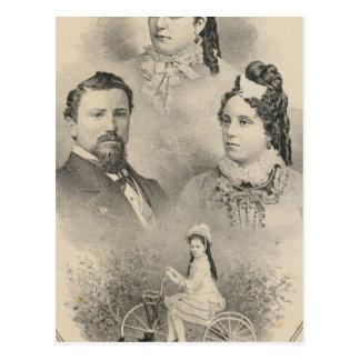 Retratos de la familia de Curtiss y de Todd Postales