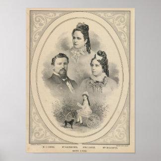 Retratos de la familia de Curtiss y de Todd Póster