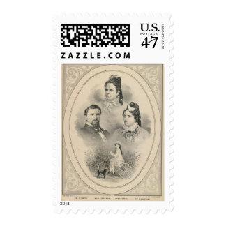 Retratos de la familia de Curtiss y de Todd Sellos Postales