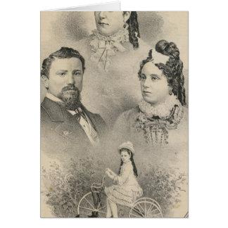Retratos de la familia de Curtiss y de Todd Tarjetas