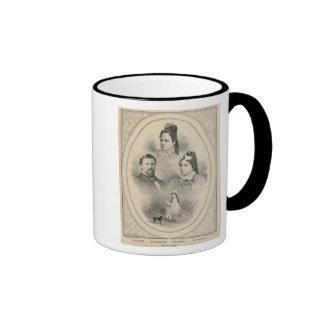 Retratos de la familia de Curtiss y de Todd Taza De Dos Colores
