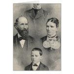 Retratos de la familia de los chiles felicitación
