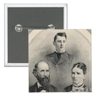 Retratos de la familia de los chiles pin cuadrado