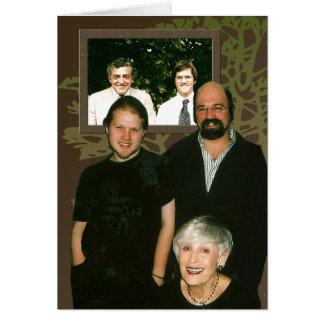 Retratos de la familia tarjeta de felicitación