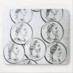Retratos de los emperadores romanos alfombrillas de ratones