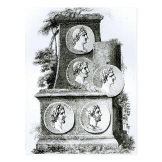 Retratos de los emperadores romanos de tarjeta postal
