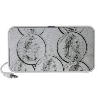 Retratos de los emperadores romanos laptop altavoces