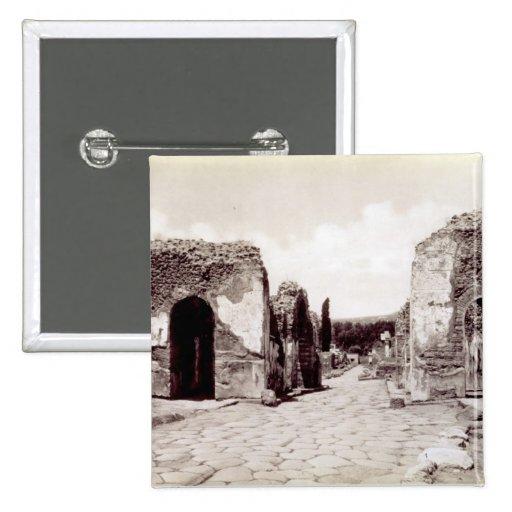 Retratos de los emperadores romanos pin cuadrado