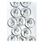 Retratos de los emperadores romanos postal