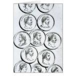 Retratos de los emperadores romanos tarjeta de felicitación