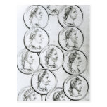 Retratos de los emperadores romanos tarjeta postal