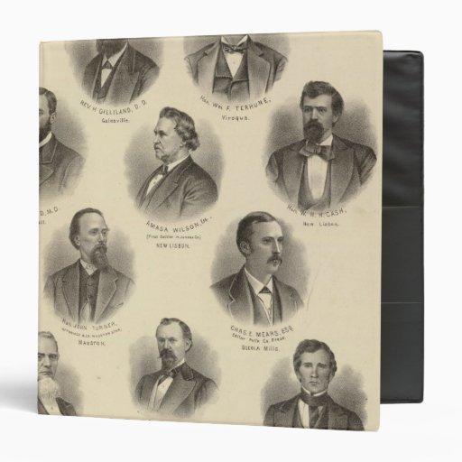 """Retratos de Rev H Gilliland, Wm F Terhune Carpeta 1 1/2"""""""