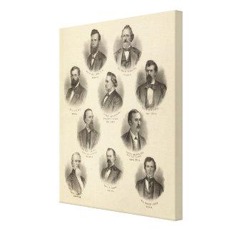 Retratos de Rev H Gilliland, Wm F Terhune Impresión En Lona Estirada