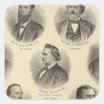 Retratos de Rev H Gilliland, Wm F Terhune Pegatina Cuadrada