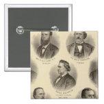 Retratos de Rev H Gilliland, Wm F Terhune Pin Cuadrada 5 Cm