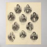 Retratos de Rev H Gilliland, Wm F Terhune Póster