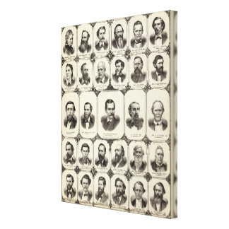 Retratos de señora DLR Wardner Impresión En Lona