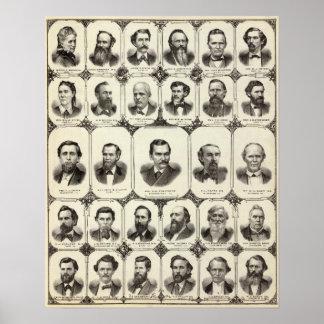 Retratos de señora DLR Wardner Posters