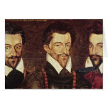 Retratos de tres duques de modo felicitación