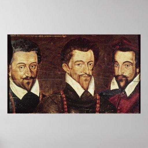 Retratos de tres duques de modo poster