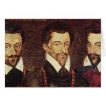 Retratos de tres duques de modo tarjeta de felicitación