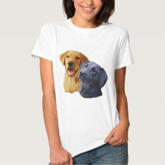 Retratos del labrador retriever camisas